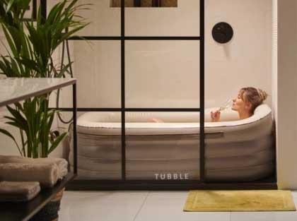 Uppblåsbart badkar - lyxig avkoppling