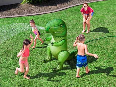 Rolig vattenspridare uppblåsbar dinosaurie T-rex