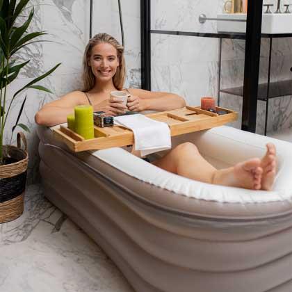 Uppblåsbart badkar - billigt alternativ till badkar